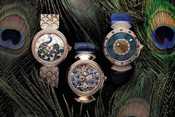 宝格丽推出三款全新Divas' Dream Peacock腕表佳作